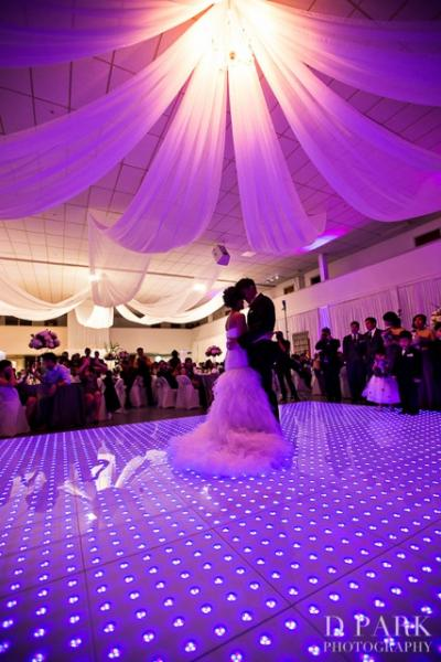 Led Dance Floor By N Glow Wedding Reception At The Hadji Shrine Temple Pensacola Fl