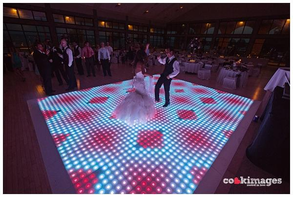 Oak, Black and White and LED Dance Floors