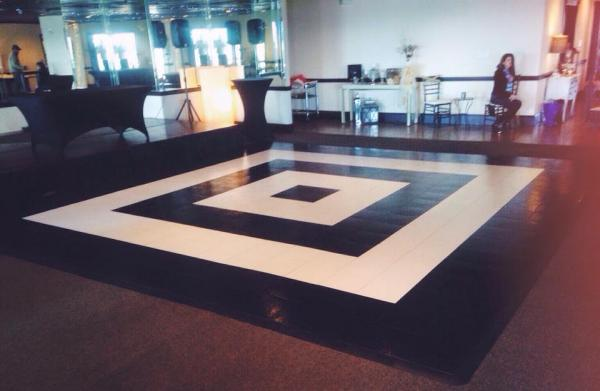 A unique geometric design for your one of a kind event/ Black and White Dance Floor