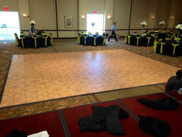 Large Oak Dance Floor