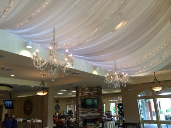 Pipe And Draping Wedding Wall Draping Cafe Lighting