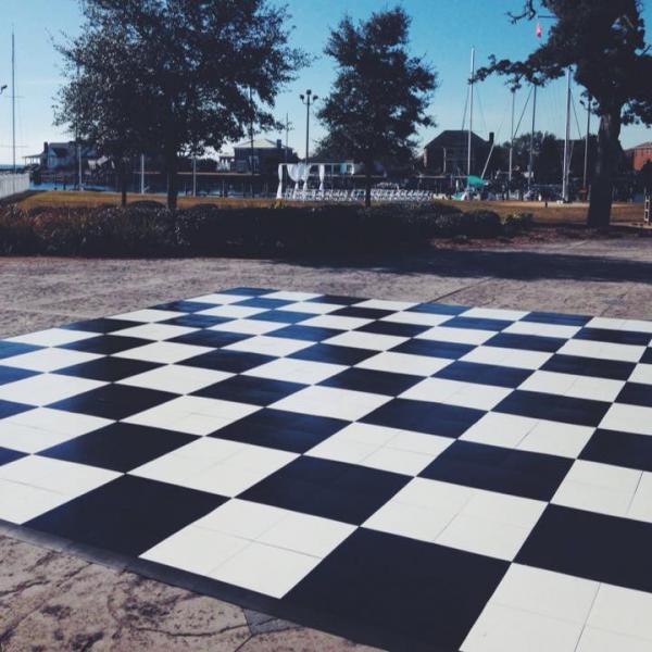 Oak Dance Floor Checkered Dance Floor Black And White