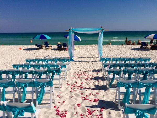 bamboo arbor chuppah beach chairs resin folding chairs marry me
